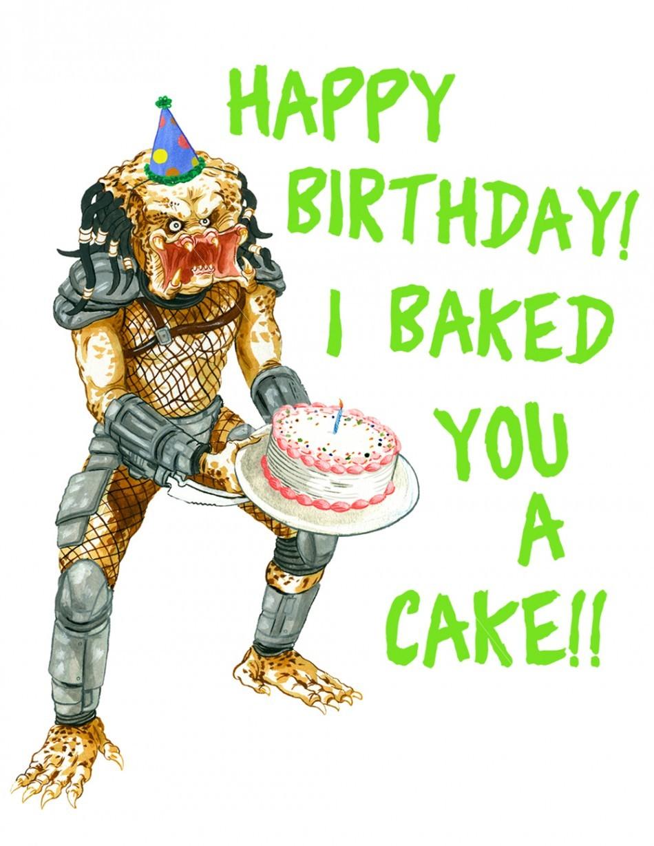 Alien Vs Predator Birthday Cake