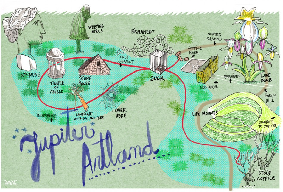 Jupiter Artland Museum map Private Brokers Magazine by daniel
